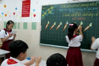 ta cai bang den lop em Văn mẫu tả cái bảng đen