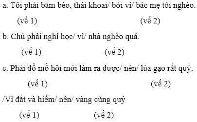 Soạn văn bài Luyện từ và câu: Nối các vế câu ghép bằng quan hệ từ